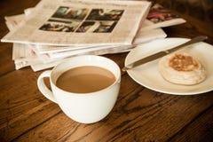 Ranek kawy scena Fotografia Royalty Free