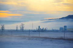 ranek krajobrazowa zima fotografia royalty free