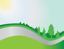 ranek lasowe drogi ilustracji