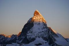 Ranek Matterhorn Zdjęcie Royalty Free