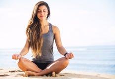 Ranek medytacja obraz royalty free