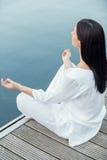 Ranek medytacja Zdjęcia Royalty Free
