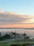 Ranek mgła przy świtem Obraz Royalty Free