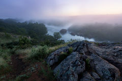 ranek mgłowa rzeka Fotografia Royalty Free