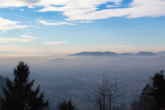 Ranek mgła Zdjęcie Stock