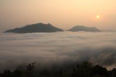 Ranek mgła Obrazy Stock