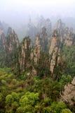 ranek mgłowe góry Fotografia Royalty Free