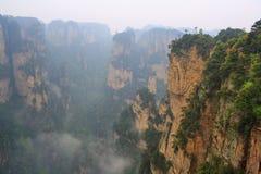ranek mgłowe góry Obraz Royalty Free