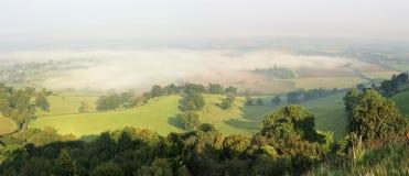 Ranek mgła w Berkley dolinie Fotografia Royalty Free