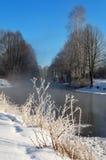 ranek mroźna zima Obrazy Royalty Free
