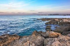 Ranek na dennym wybrzeżu Fotografia Stock
