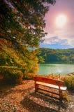 Ranek na jeziorze Zdjęcia Royalty Free