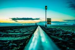 Ranek na kolei Fotografia Royalty Free