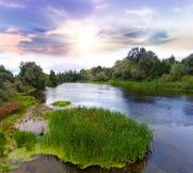 Ranek na rzece Fotografia Royalty Free