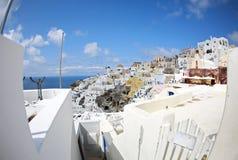 Ranek na wyspie Santorin Fotografia Royalty Free