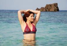 ranek pływanie Zdjęcie Royalty Free