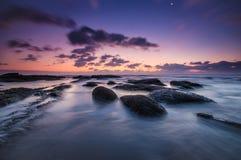 Ranek plażowy światło Obrazy Royalty Free