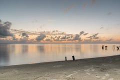 Ranek plaża Zdjęcie Stock