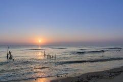 Ranek plaża Zdjęcia Stock