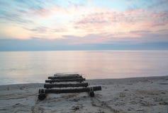Ranek plaża Zdjęcia Royalty Free