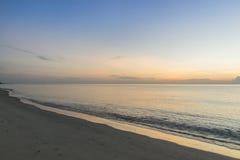 Ranek plaża Obrazy Stock