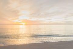 Ranek plaża Obraz Stock