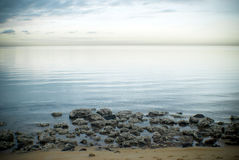 Ranek plażowa scena Obraz Stock