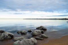 Ranek plażowa scena Obraz Royalty Free