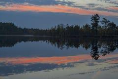 Ranek przy jeziorem Obraz Royalty Free
