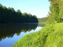 ranek rzeka Fotografia Stock