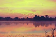Ranek rzeka w lecie Zdjęcia Royalty Free
