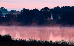 Ranek rzeka w lecie Zdjęcie Royalty Free