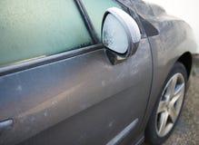 ranek samochodowa mroźna zima Obrazy Stock
