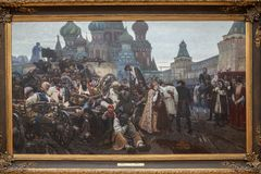 Ranek Streltsy egzekucja, jest obrazem Surikov obrazy stock