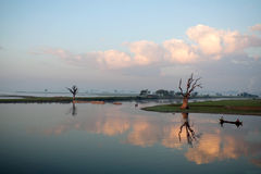 Ranek w Amarapura, Myanmar Fotografia Royalty Free