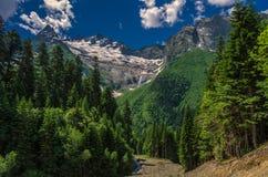 Ranek w górach Dombay Obraz Stock