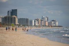Ranek w Południowej plaży obraz stock
