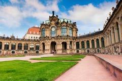 Ranek w sławnym Zwinger pałac & x28; Dera Dresdner Zwinger& x29; Sztuka galas Obraz Stock