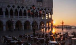 ranek w San Marco kwadracie w Wenecja Obraz Royalty Free