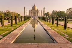 Ranek w Taj Mahal, India Zdjęcia Royalty Free