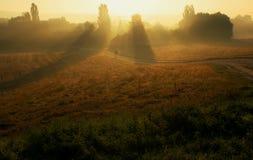 ranek wioska Zdjęcie Royalty Free