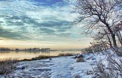 ranek zima obraz stock