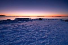 ranek zimny wschód słońca Zdjęcie Stock