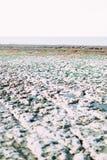 Rangée étonnante des pierres blanches sur l'océan, Etretat, Normandie, France Image stock