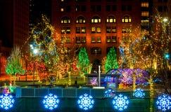 Rangée d'éclairage de Noël Image libre de droits
