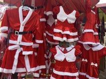 Rangée d'équipements de Santa Photographie stock