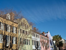 Rangée d'arc-en-ciel à Charleston, Sc Photos libres de droits