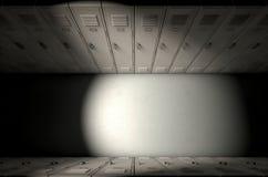 Rangée de casier d'école nouvelle Photo stock