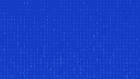 Rangée de Digital Nombres aléatoires 0 et 9 Vidéo dans un style de matrice Modèle de code binaire avec des chiffres sur l'écran,  illustration de vecteur