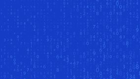 Rangée de Digital Nombres aléatoires 0 et 9 Vidéo dans un style de matrice Modèle de code binaire avec des chiffres sur l'écran,  illustration stock